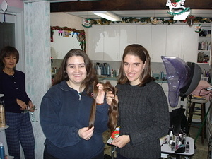 Jen and Lori Get a Haircut!