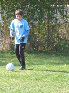 Connor Playing Soccer