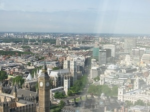 Big Ben from the London Eye 2