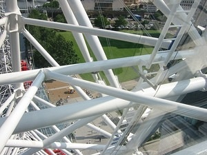 Looking down from the London Eye