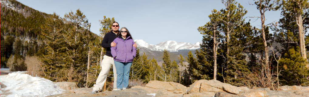 We were in Rocky Mountain National Park for our friends' wedding in February 2013.
